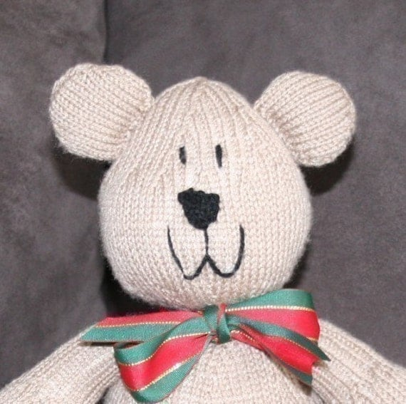 Sam Bear - Teddy Bear pattern - INSTANT DOWNLOAD PDF Knitting Pattern