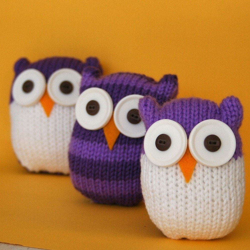 Quick and Easy Owl INSTANT DOWNLOAD PDF Knitting Pattern