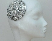 close out sale - Diamante fascinator on brown base.