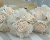 Buttermilk Brides Maids Bouquets