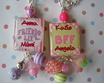 Best Friends Scrabble Tile Necklace Personalized