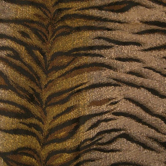 Fabric Destash - Tiger print upholstery 2 3\/4 yds tapestry