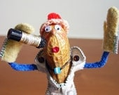 Marlon - Handmade Peanut Person Art Doll Figurine