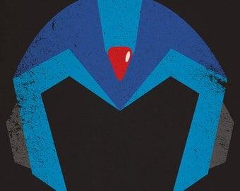 Mega Man X Minimalist Poster Triptych