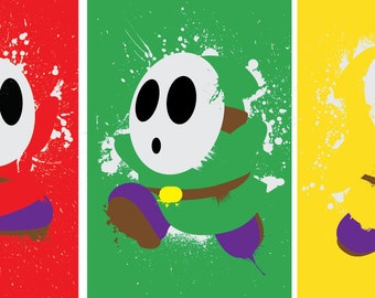 Splattery Shy Guy Mini-Print 3-Pack