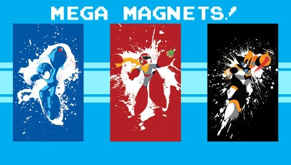 Mega Man Magnets - Set of 3