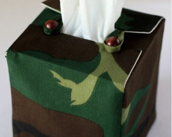 Camouflage Tissue Box Cover