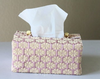 Sashiko Handmade Fabric Tissue Box Cover