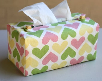Heart design tissue box cover