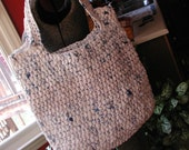 RESERVED FOR AMANDA  Plarn Crocheted Tote Bag