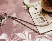 open your heart - key and quartz necklace