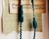 Roots necklace - fiber and felt