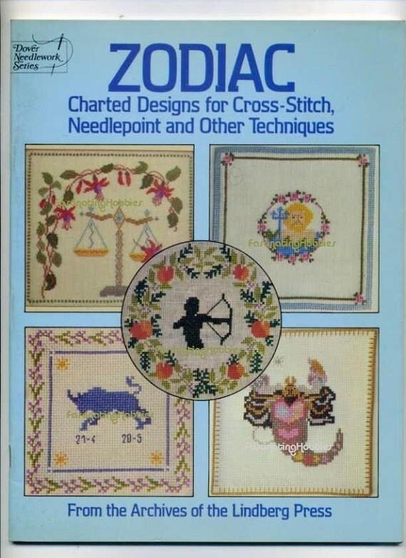 1985 - ZODIAC- CHARTED Designs CROSSSTITCH - English Book