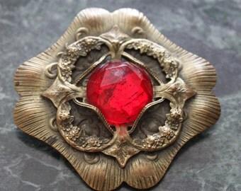 Large vintage jeweled brooch