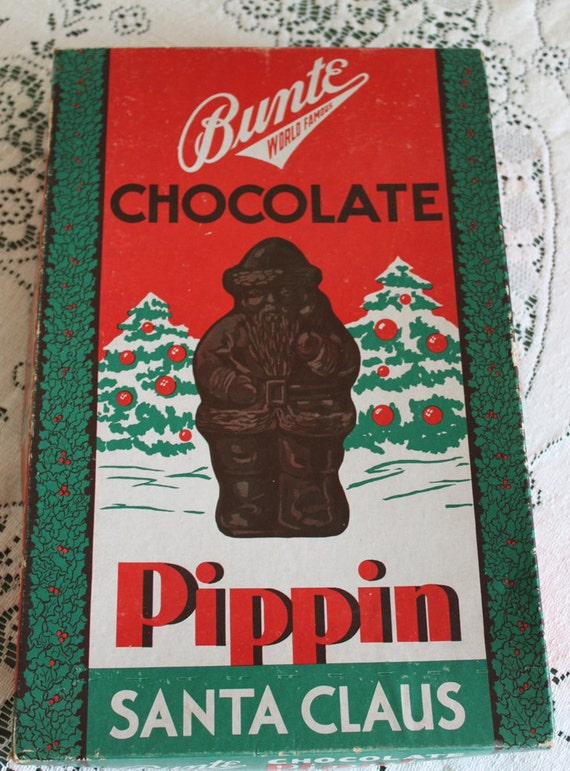 Vintage chocolate santa claus pippin box