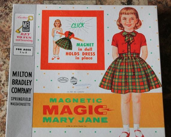 Vintage magnetic Mary Jane paper dolls IOB