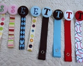 Boutique Custom Monogrammed Personalized Pacifier Clip Leash