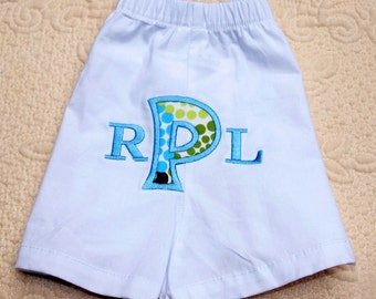 Boutique Custom Monogrammed Personalized Boxer Style Diaper Cover