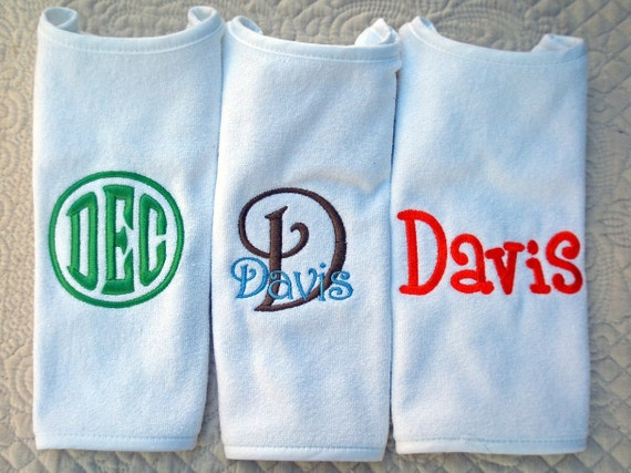 Custom Boutique Personalized Monogramed Name  Bib