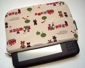 ready to ship - zipper clutch - padded wallet - ereader sleeve - fit kindle 3