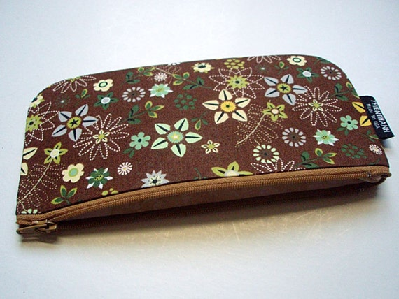 NEW - long zipper pouch - pen pouch - ready to ship
