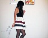 striped puff skirt