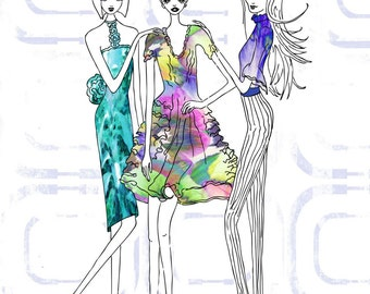 Fashion Friends Illustration