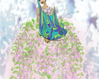 Illustration Limited Edition----- African Princess