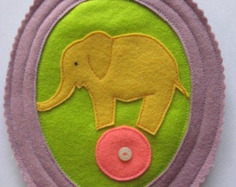 Plush Framed Elephant - Lilac