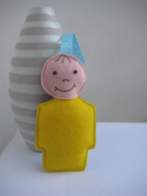 Little People Ornament - Yellow Boy