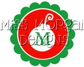Personalized Christmas  iron on decal vinyl for shirt