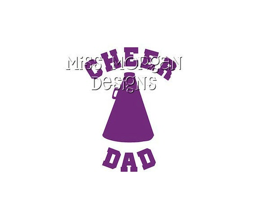 Personalized Cheer Dad Iron On Decal Vinyl For Shirt By