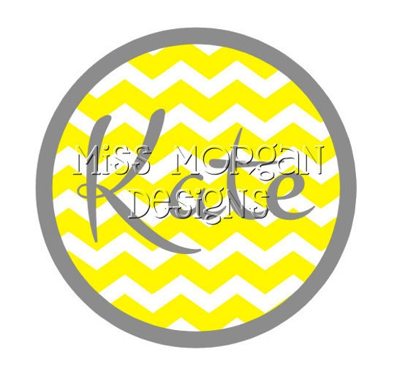 Personalized Chevron Name Or Age Iron On Decal By Missmorgan