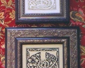 M Designs Alphabet Series Letters S and T Cross Stitch Chart