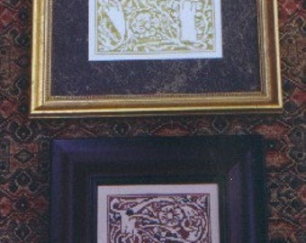 M Designs Alphabet Series Letters A and B Cross Stitch Chart - Instant Downloadable PDF