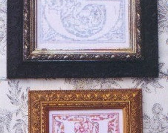 M Designs Alphabet Series Letters G and H Cross Stitch Chart - Instant Downloadable PDF