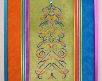 M Designs INSPIRE Tree Cross Stitch Chart - Instant Downloadable PDF