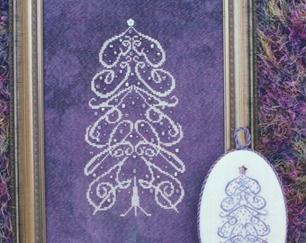 M Designs GRACE Tree Cross Stitch Chart - Instant Downloadable PDF