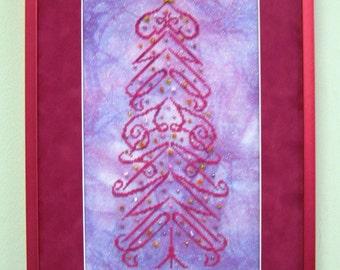 M Designs IMAGINE Tree Cross Stitch Chart - Instant Downloadable PDF