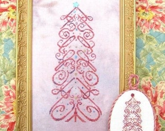 M Designs CHERISH Tree Cross Stitch Chart - Instant Downloadable PDF