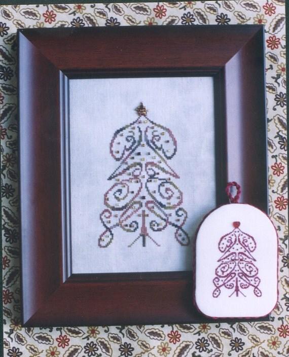 M Designs LOVE Tree Cross Stitch Chart - Instant Downloadable PDF