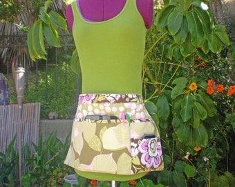 Amy Butler - Fabric Tool Belt, Waist Apron, Organizer With Pockets