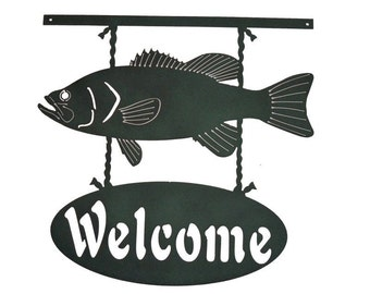 Welcome Fish Metal Wall Art  (U)