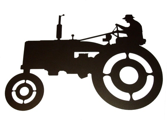 Tractor Metal Wall Art                    (A4)