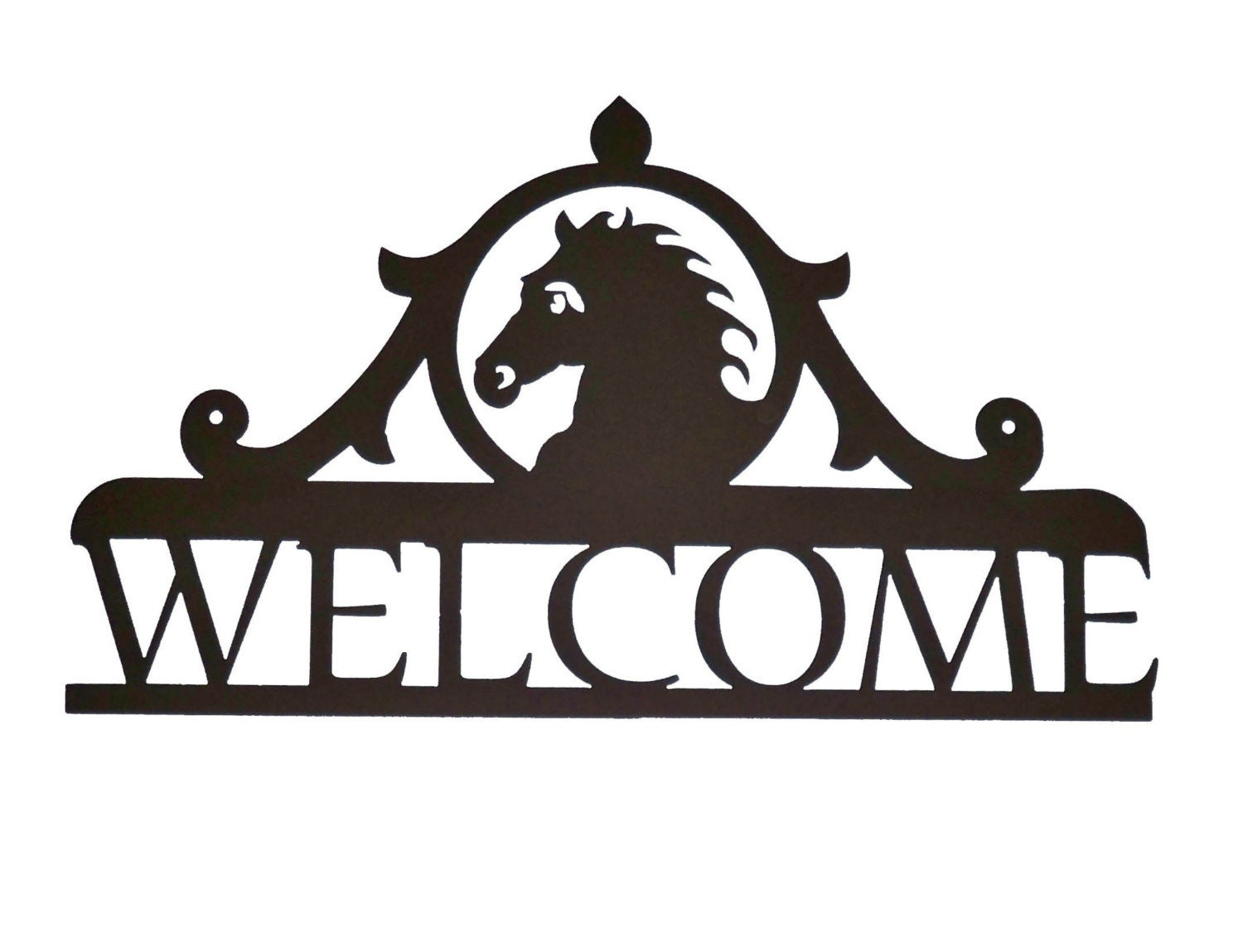 Metal Welcome Sign Horse B9 by RustyRoosterMetal on Etsy