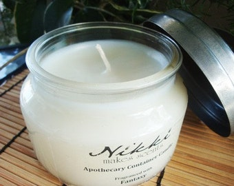 NIKKI'S HERB PATCH - 10oz Apothecary Jar Soy Candle