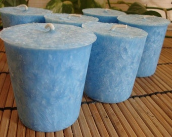 WATERFALL FRESH - Natural Wax Votive Candle 6pk