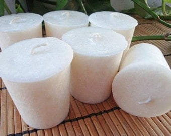 JUNIPER BREEZE - Natural Wax Votive Candle 6pk