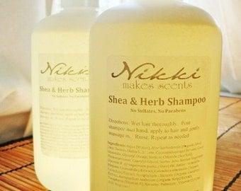 INNOCENCE - Shea and Herb Shampoo, No Parabens or Sulfates