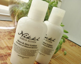 Shea Butter & Aloe Lotion Sample -  FRUIT/VEGETABLE scents (part 1)